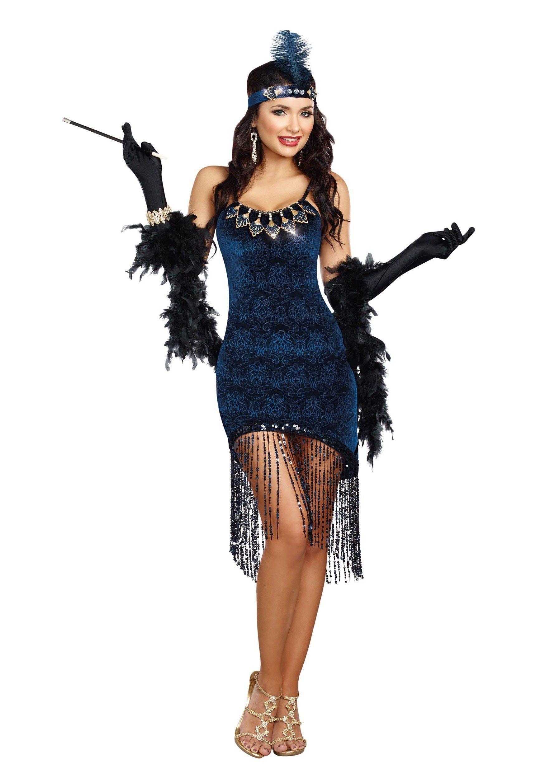 49cb1dc02c7 Sexy Jazzy Jezebell 1920s Flapper Costume 1920s Costumes - Mr. Costumes
