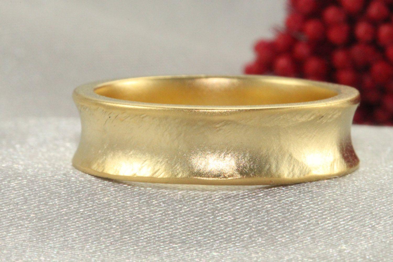 18k Wedding Band,Handmade Wedding Rings, GOLD RING 18K
