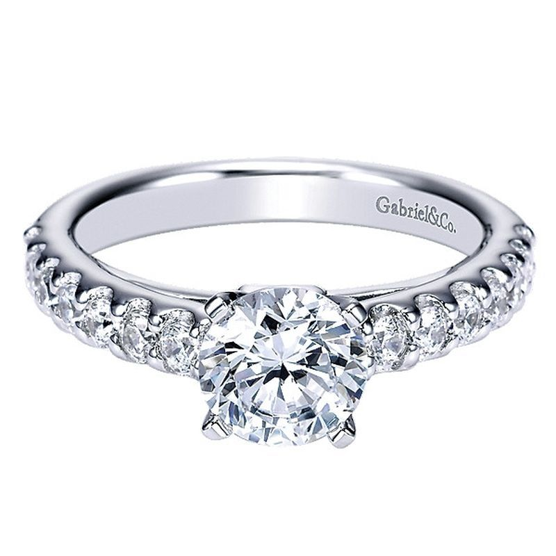 18K Cathedral Engagement Ring by Gabriel and Co. #ER4245W44JJ