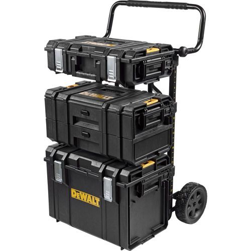 Marvelous DeWalt Tough System 4pc Portable Tool Box Set W/Cart