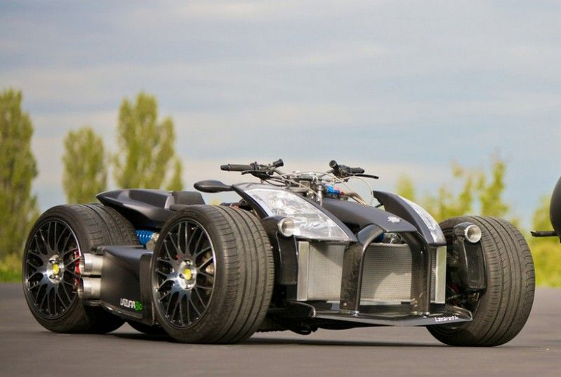 This Matte Black Four-Wheeler Comes with a Ferrari Engine