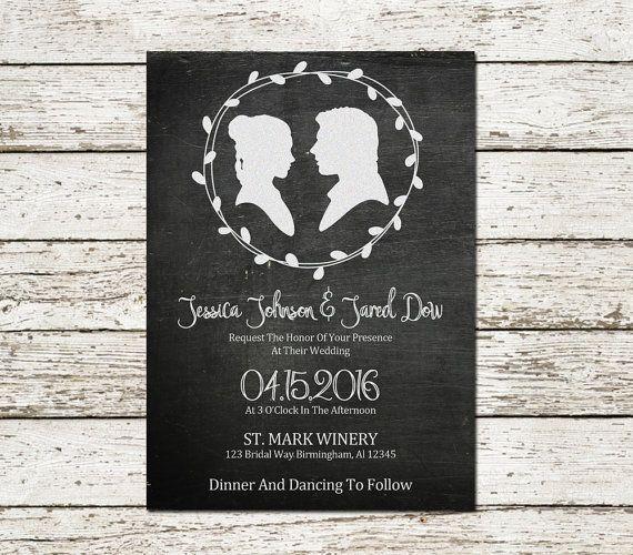 Star Wars Wedding Invitation Chalkboard Printable Sci Fi Movie Geek Nerd Chic Boho Elegant D Star Wars Wedding Wedding Invitation Templates Wedding Invitations