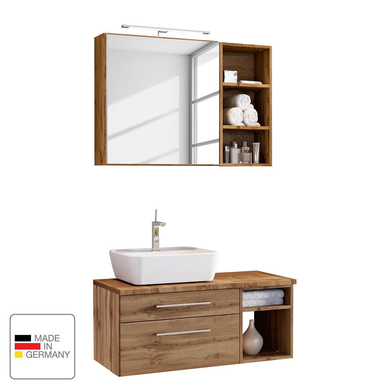 Salle De Bain 3 Elements Davos Ii In 2020 Waschtisch Set Badezimmer Set Und Badmobel Set