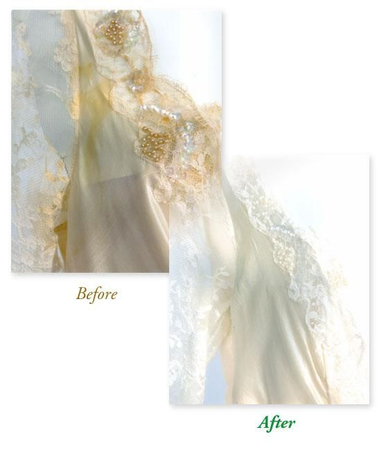 Wedding Gown Cleaning Before After Contact Dublin Cleaners Www Dublincleaners Com Wedding Gown Cleaning Dress Cleaning Wedding Dresses
