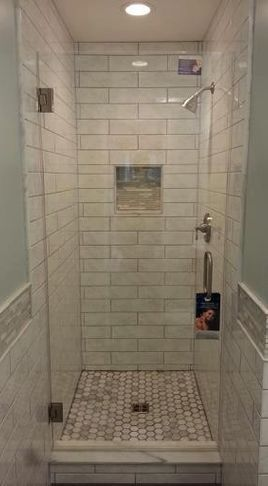 Shower Ideas Maybe 1 2 The Glass Door Idk For The