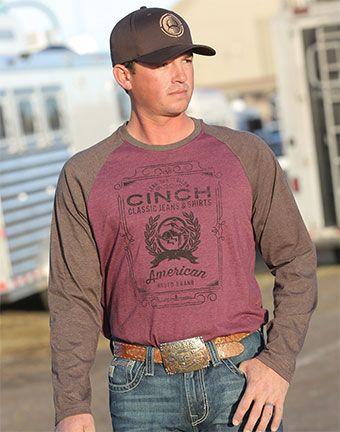 3f52b3a78be Cinch® men s raglan long sleeve jersey tee shirt.  cinch  mens  raglan   longsleeve  tee  jerseytee  christmasgift  mensclothes  fallfashion   westernwear