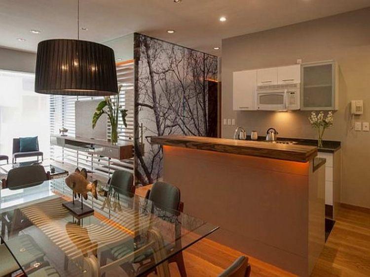 Petite cuisine moderne quels meubles de cuisine ouverte for Amenagement cuisine avec bar