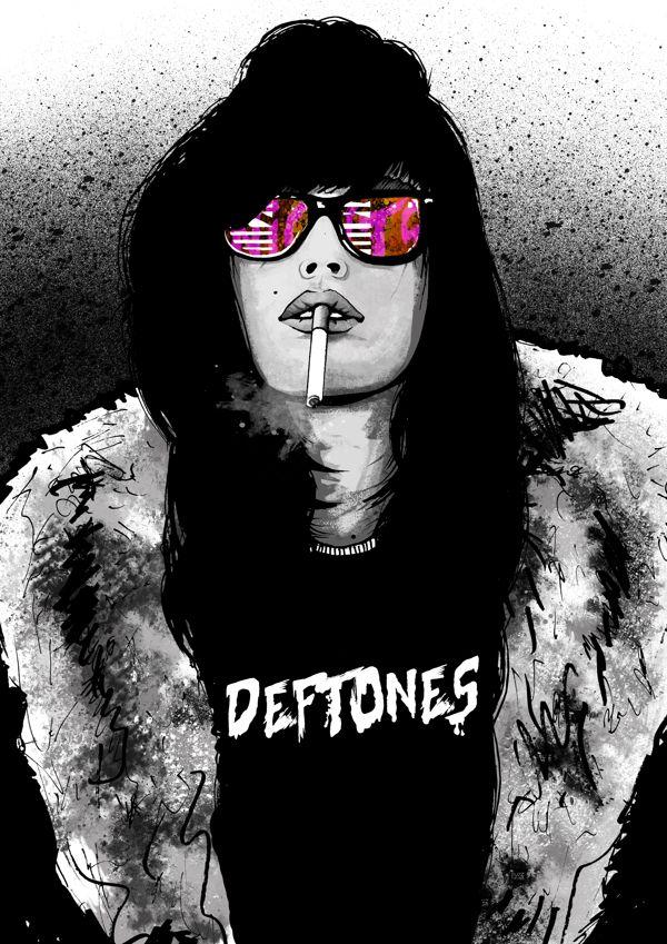 deftones poster on behance art photography pinterest poster