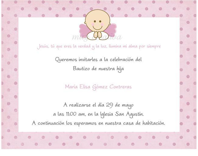 Imagenes y bordes para tarjetas de invitación de bautizo - Imagui ...