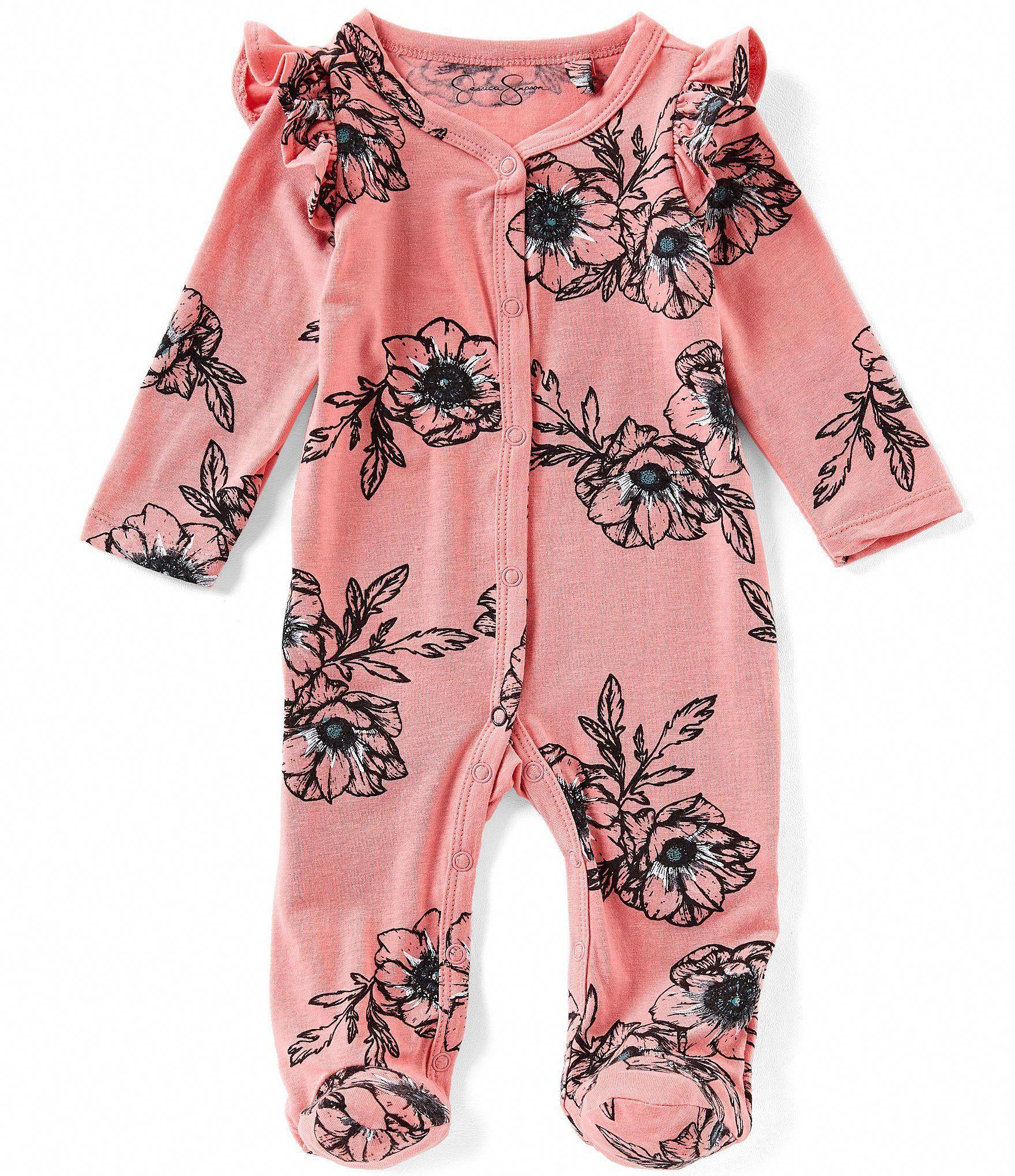 jessica simpson baby girls newborn9 months floral printed