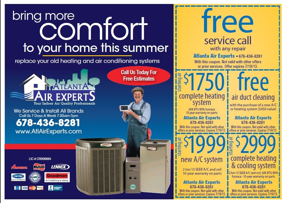 Atlanta Air Experts NADCA Certified Air conditioning