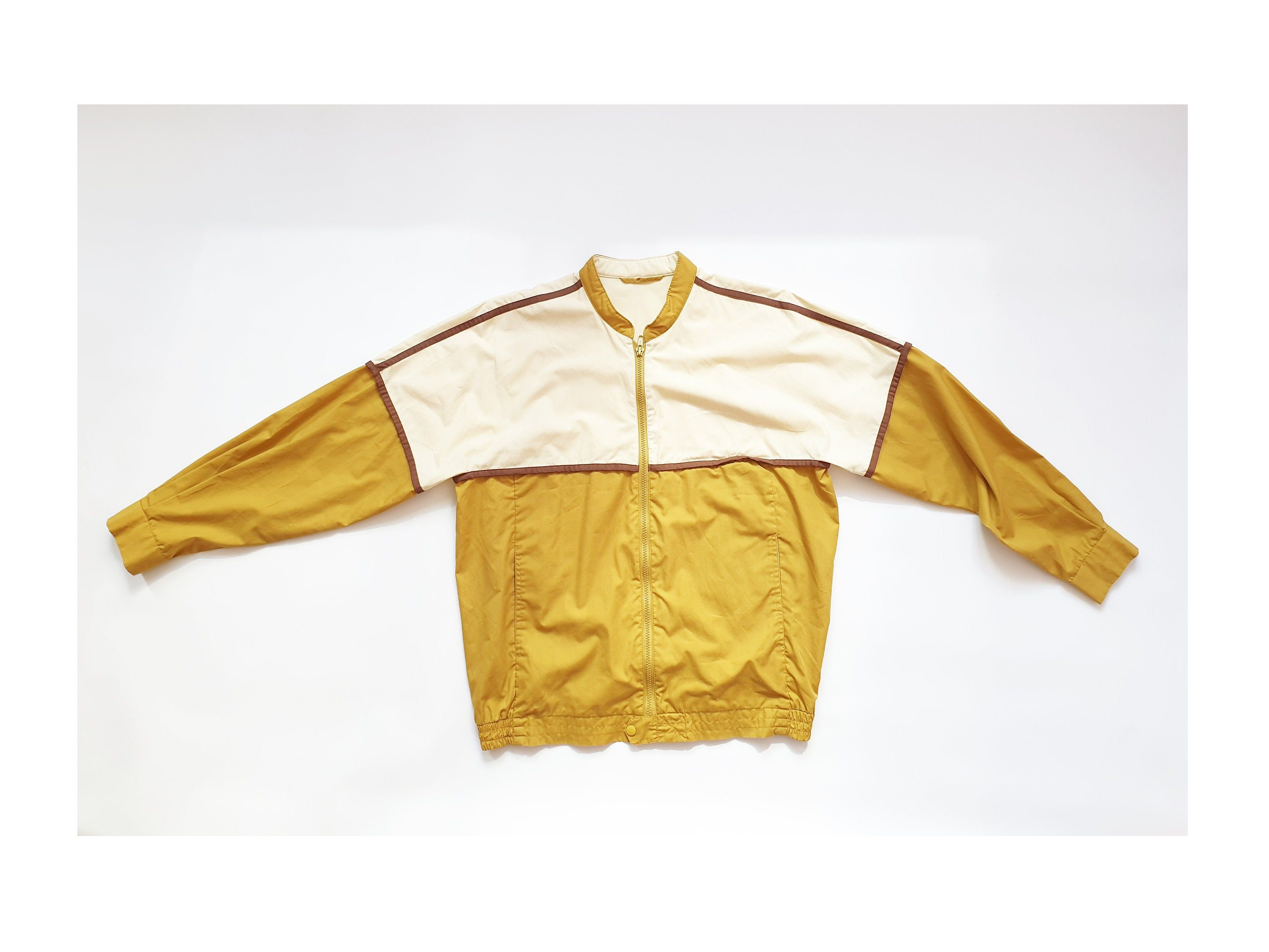 Mustard bomber vintage  jacket from 90s