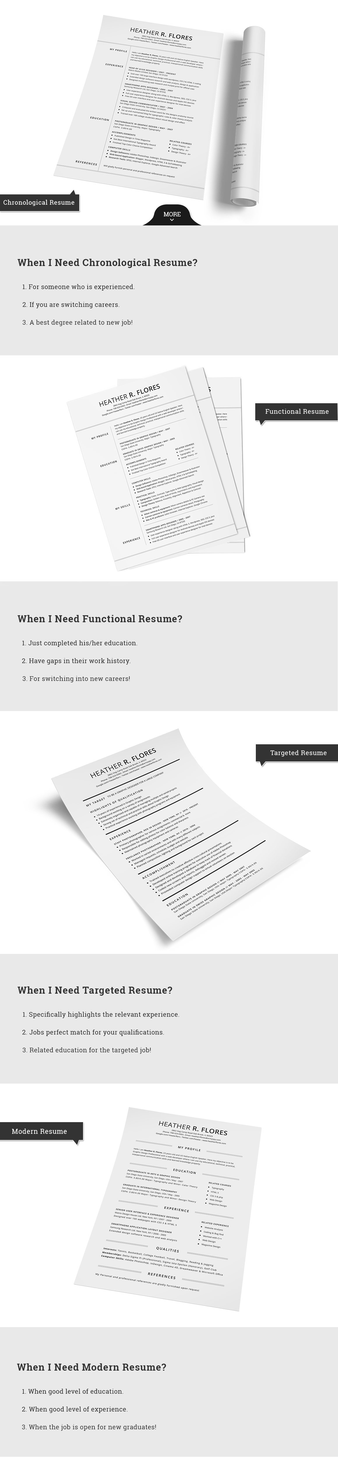 4 Pieces Resume/CV Set Template by SNIPESCIENTIST on Creative Market
