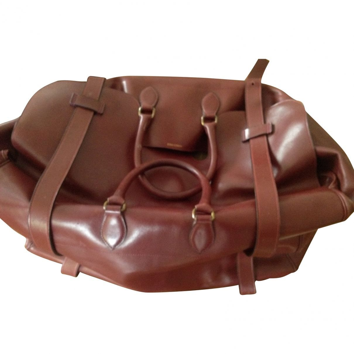 HERMÈS Burgundy Leather Bag
