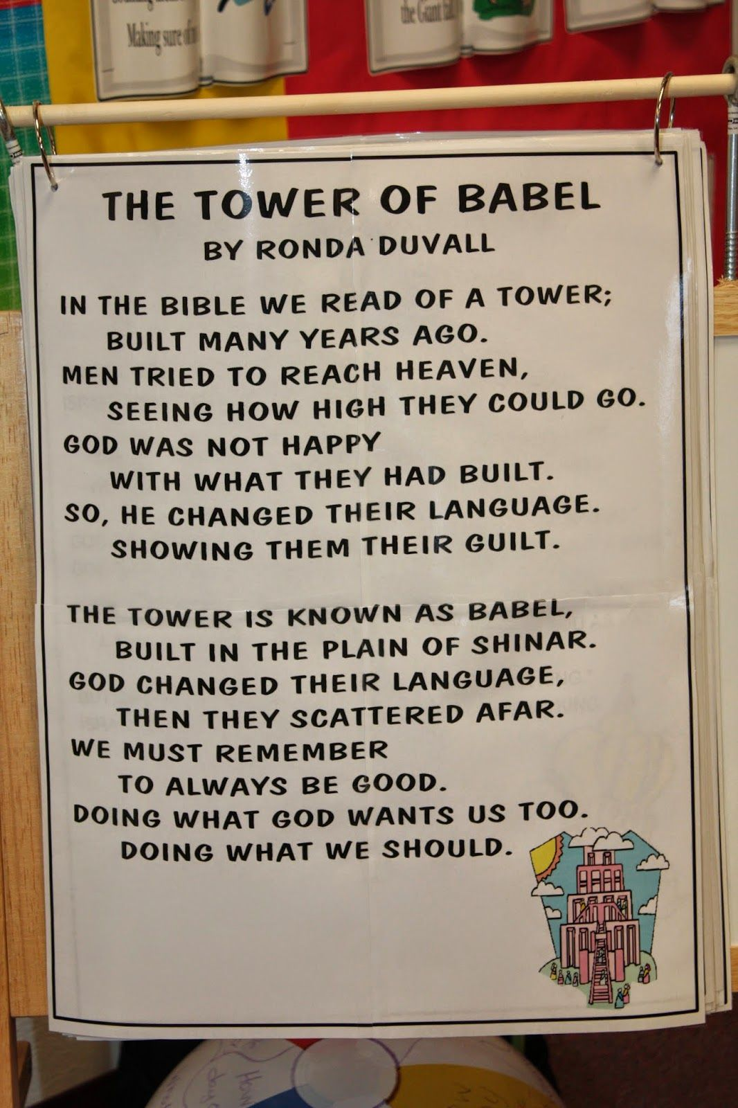 Hands On Bible Teacher: Tower of Babel song by RONDA DUVALL