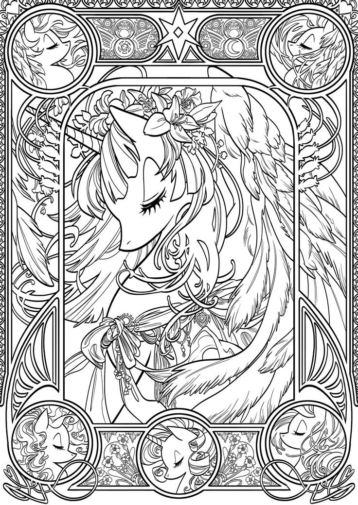 Coloriage My Little Pony Coloring Adult Horse Coloring