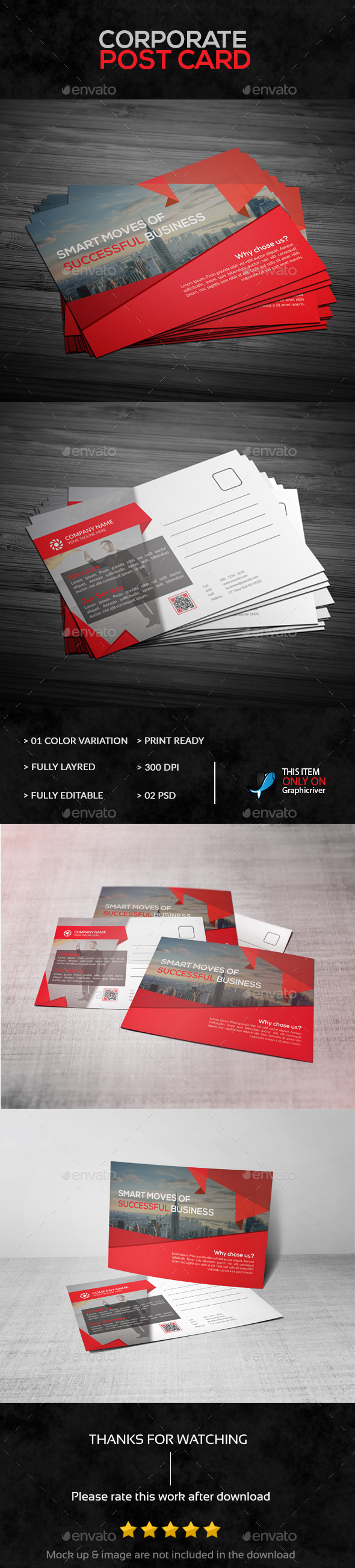 Corporate Business Post Card | Corporate business, Post card and ...
