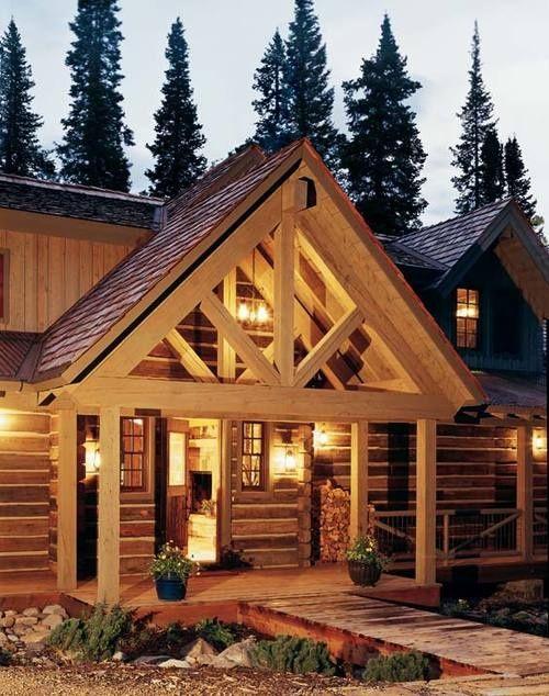 Log Cabin Porch Ideas Log Homes Tiny Beach House Log Home Decorating