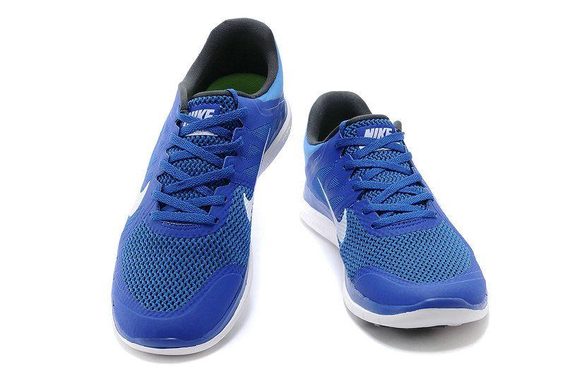 the best attitude 23bb4 97448 Men Nike Free 4.0 V4 Game Royal Blue White 642197 410