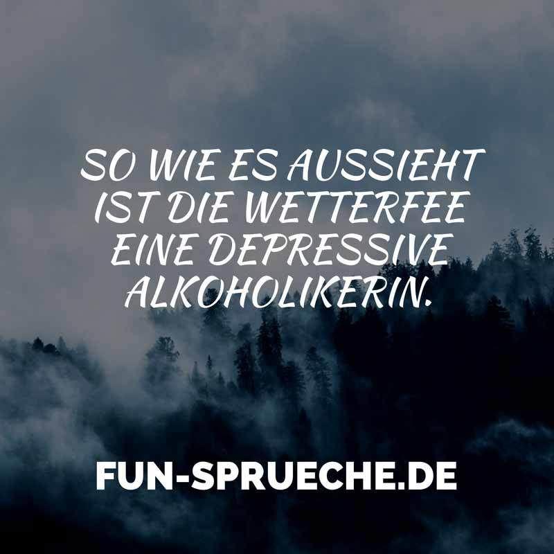 So Wie Es Aussieht Ist Die Wetterfee Eine Depressive Alkoholikerin.  Http://www