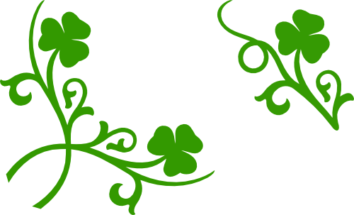 shamrock corner and accent svg files svg file corner and filing rh pinterest com shamrock border clip art free Shamrock Border for Word Documents