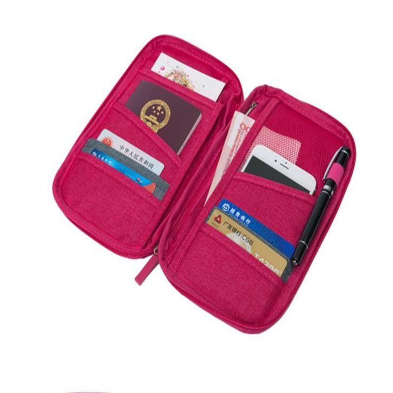TEMENA Passport Cover Travel Wallet Document Passport Holder ...
