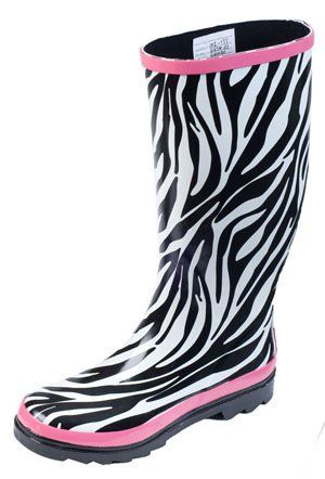 Zebra Rain Boots - Cr Boot