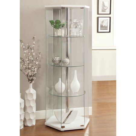 Beautiful Glass Curio Cabinet with Lights