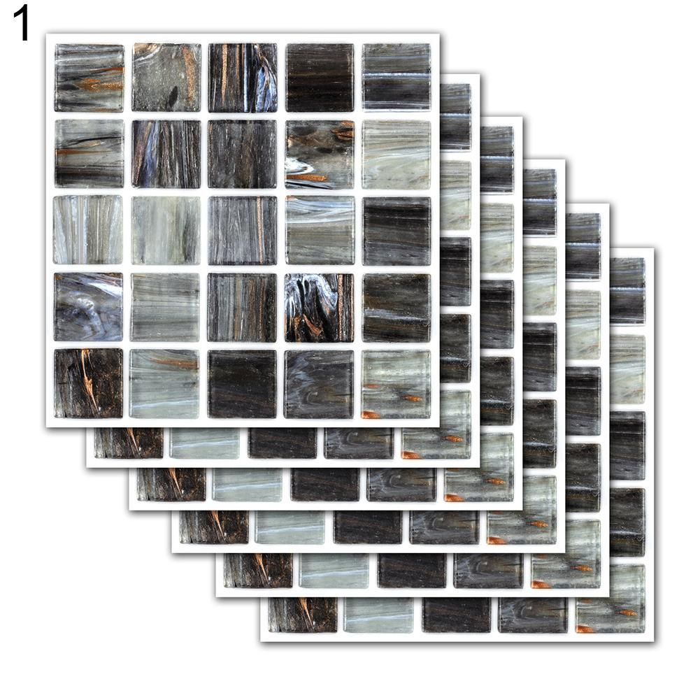 Photo of 6Pcs European Style Waterproof Tile Stickers Kitchen Bathroom Floor Wall Decor – as the picture u