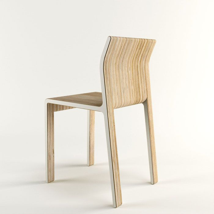 This Plywood Chair Is Made From The Same Cut Shape, Repeated Over And Over