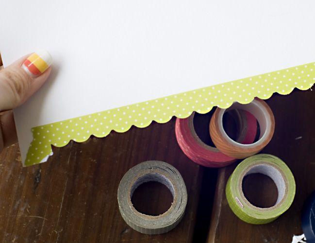 comment faire des bordures festonnées en masking tape ?