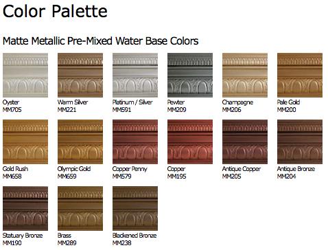 Matte Metallic Paint Google Search Copper Colour Palette Modern Masters Metallic Paint