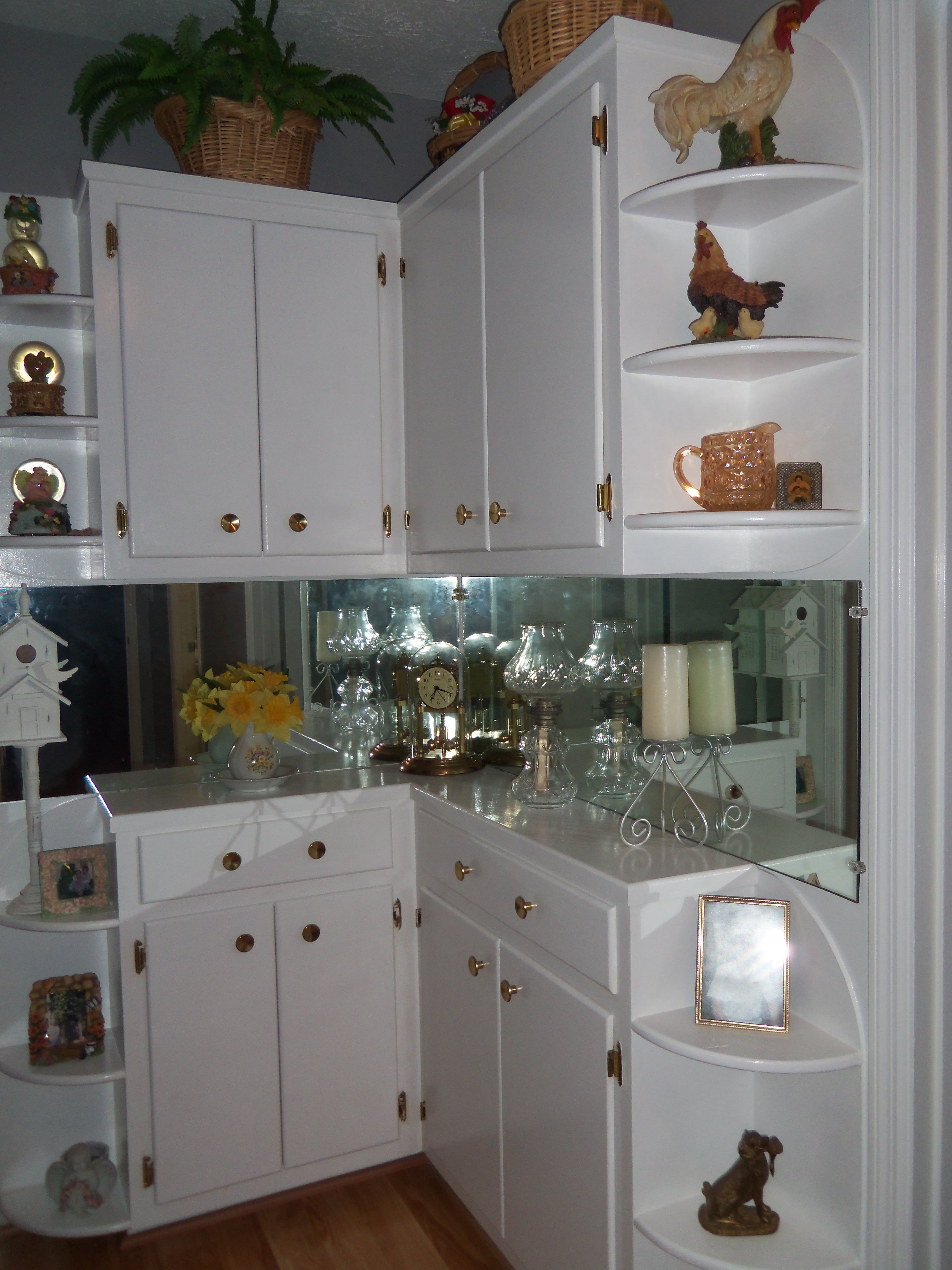 extra shelves at the end of the cabinets | Home decor ...