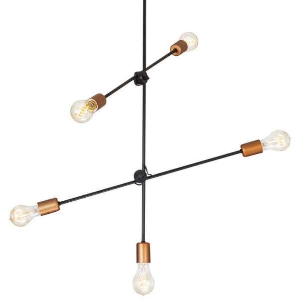 Miedziana LAMPA wisząca STICKS 6270 Nowodvorski metalowa OPRAWA MOLECULAR zwis pałąk miedź czarny