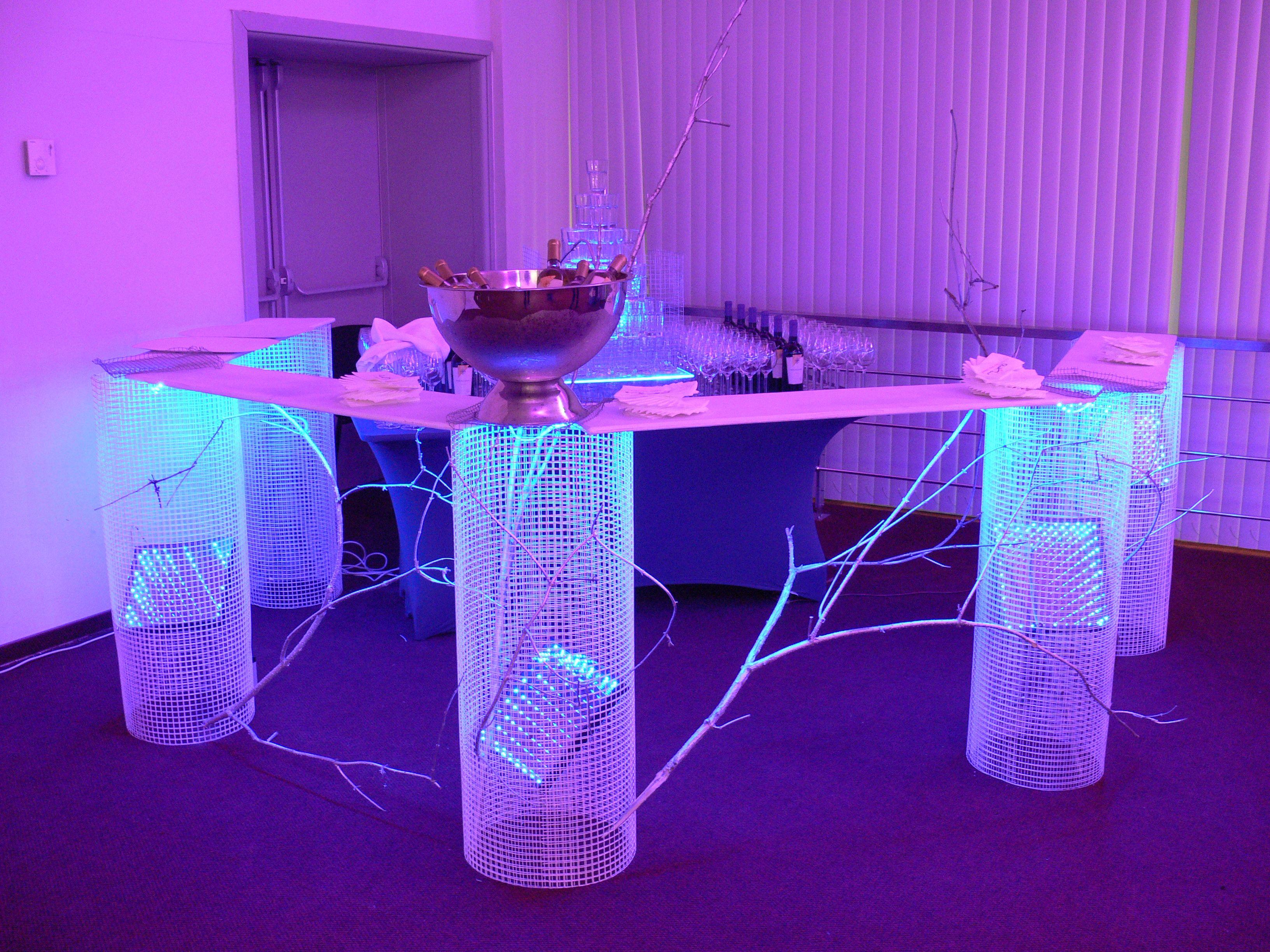 Fancy purple light bar bar lighting catering equipment