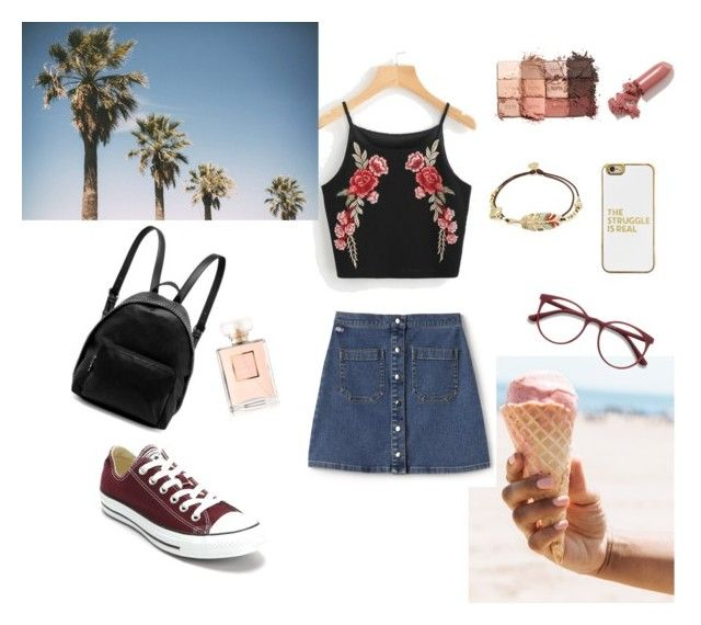 summer vibes by musicajla on Polyvore featuring polyvore, mode, style, Lacoste L!VE, Converse, STELLA McCARTNEY, Gas Bijoux, BaubleBar, EyeBuyDirect.com, tarte, LAQA & Co., Chanel, fashion, clothing, Summer, girly, vacation and rosegal