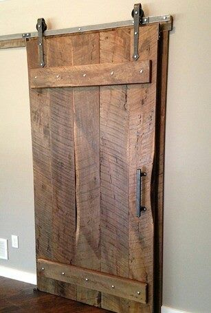 The Vertical Plank Natural Wood Reclaimed Door Is A Great Way To