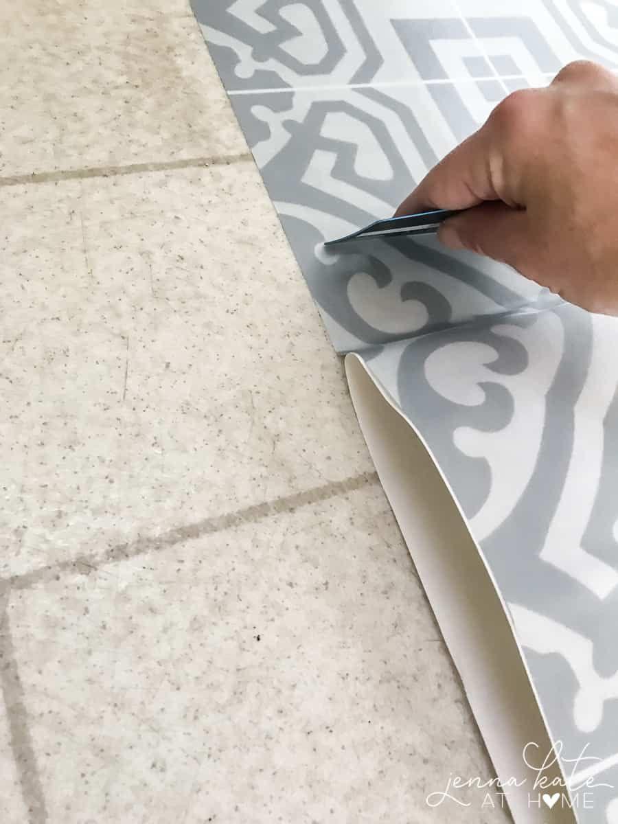 The Laundry Room Floor Laundry Room Flooring Peel And Stick Floor Diy Flooring