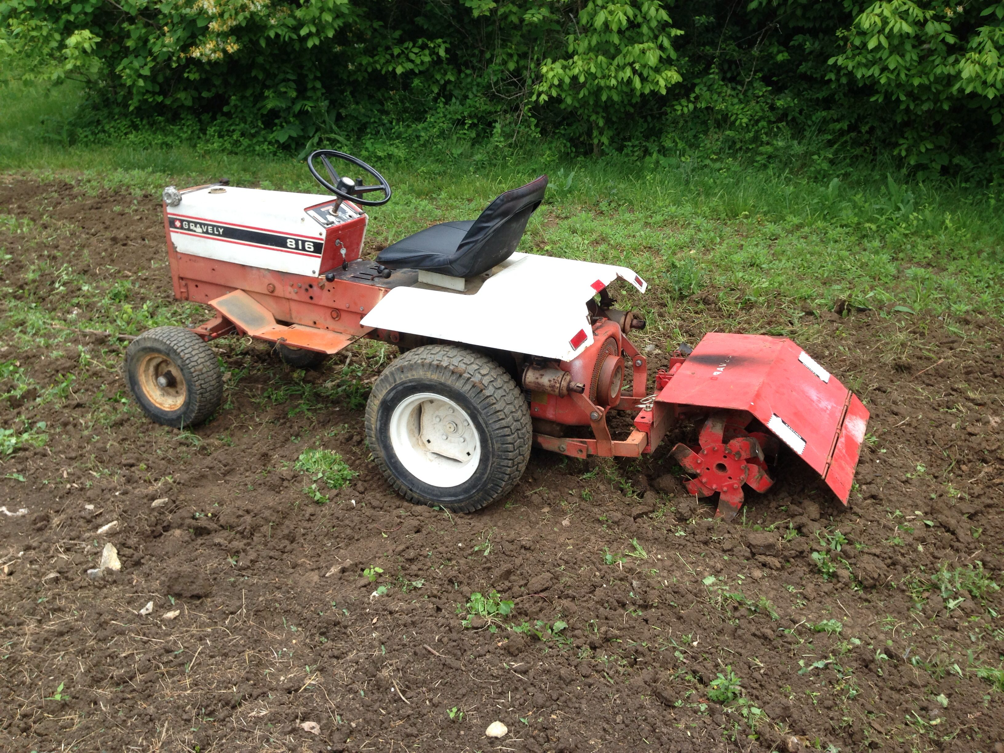 1974 816 With Tiller With Images Antique Tractors Vintage