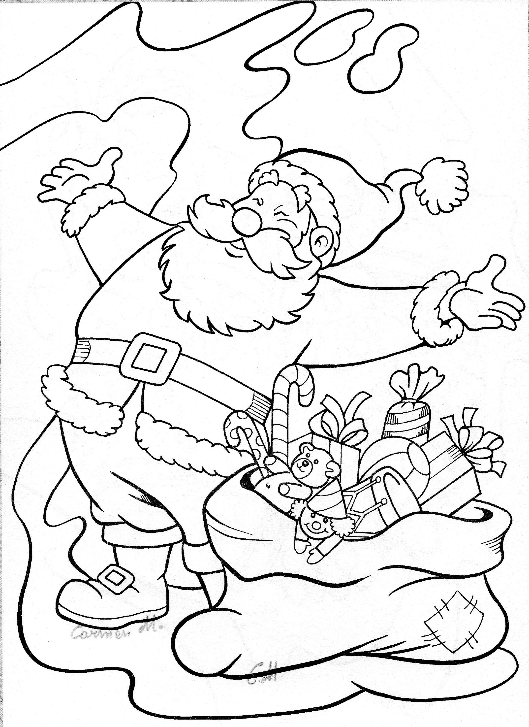 Santa Claus Coloring Page Owl Coloring Pages Bird Coloring Pages Christmas Coloring Page