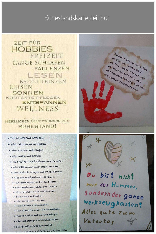Ruhestandskarte Zeit Fur Hobbies Geschenkideen Abschied Ruhestand Erlebnisgeschenke Gute Geschenke Romantische Geschenke