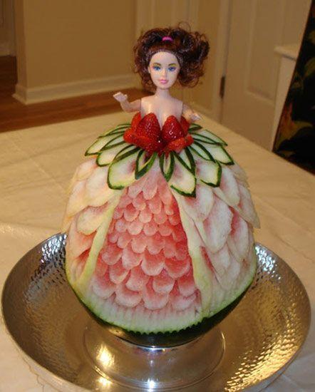 7 Princess Watermelon Carvings Marcia Geers made this pretty watermelon princess Princess Watermelon Carvings Marcia Geers made this pretty watermelon princessMarcia Geers made this pretty watermelon princess