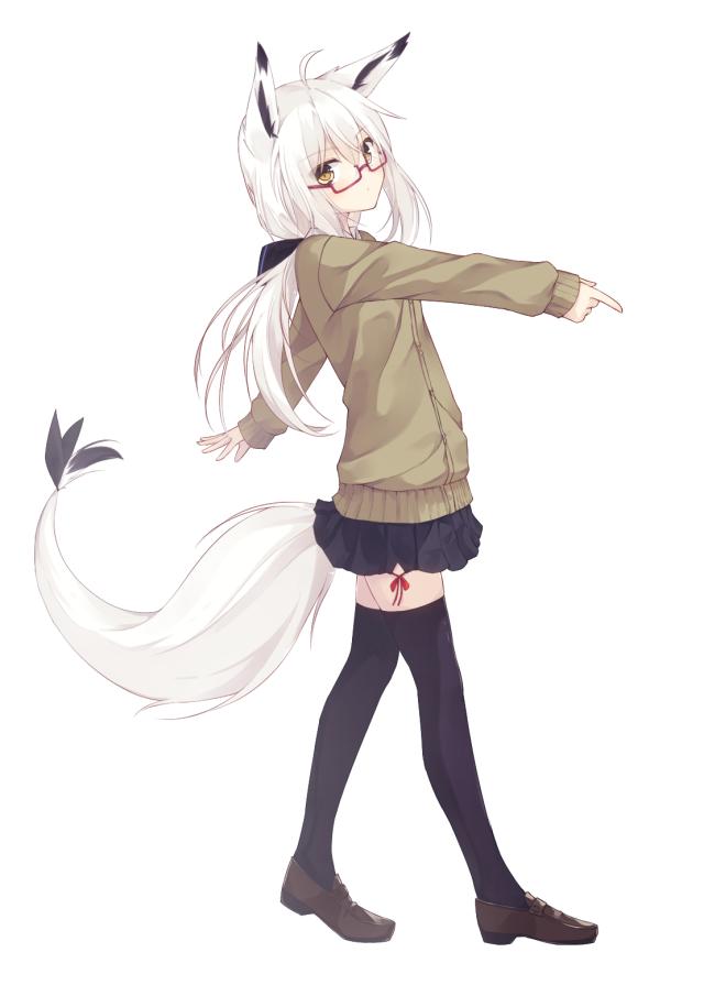 Картинка девочки с белыми волосами в полный рост