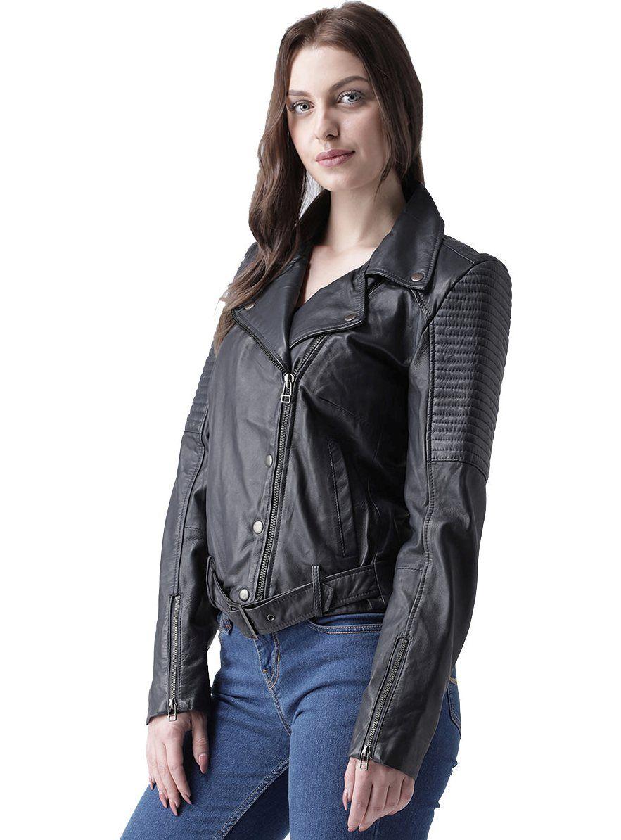 Bareskin Black leather ladies Jacket Jackets for women