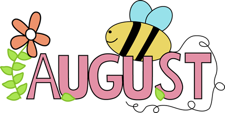 free month clip art month of august summer clip art image the rh pinterest com august clip art black and white augustus clipart