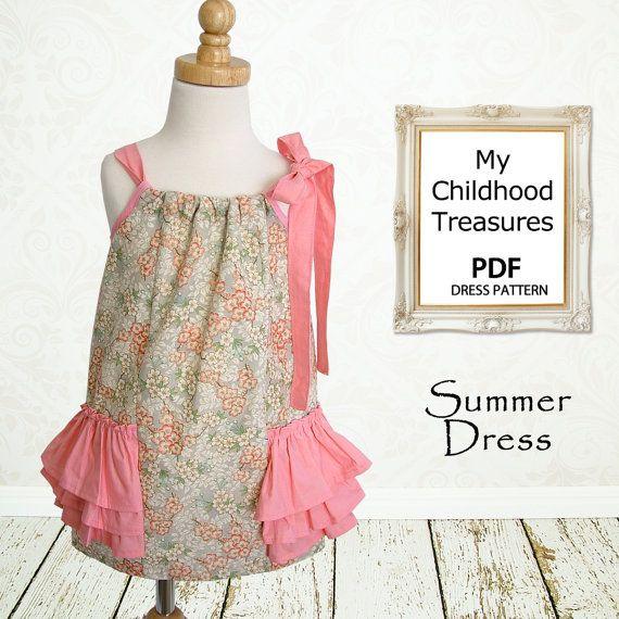Girls Dress Pattern PDF, Pillowcase Dress Pattern, Childrens Sewing ...