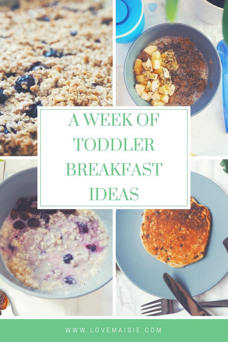 A Week Of Toddler Breakfast Ideas Breakfasts Cooking