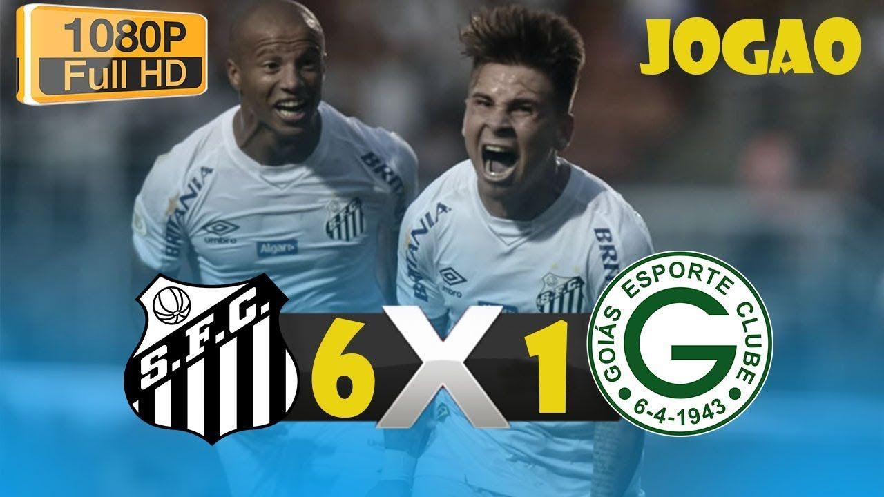 Santos 6 x 1 Goias melhores momentos HD 04/08/2019