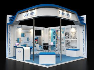 Exhibition Stall Material : Creative: 4 x 4 meter two side open stall exhibition stands