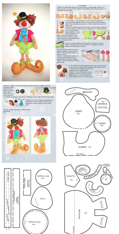 http://mimindolls.blogspot.fr/2012/10/palhacinho-lindo.html clown doll . ..•♥°.... Nims.... °♥•: